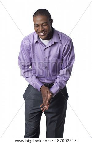 Laughing Black man