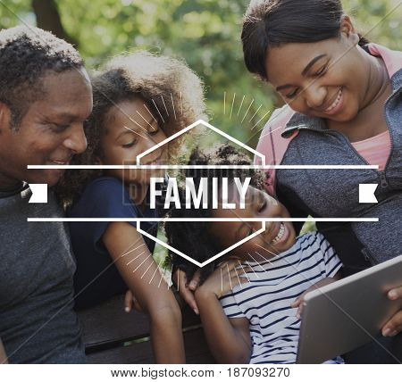 Family Time Quality Moment Word Graphic Banner