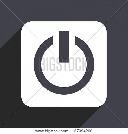 Power flat design web icon isolated on gray background