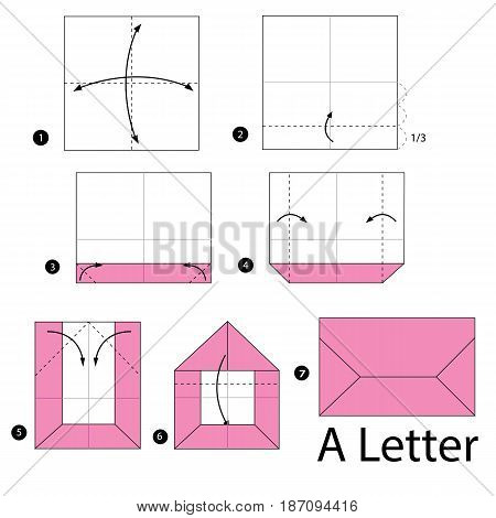 step by step instructions how to make origami A Letter.