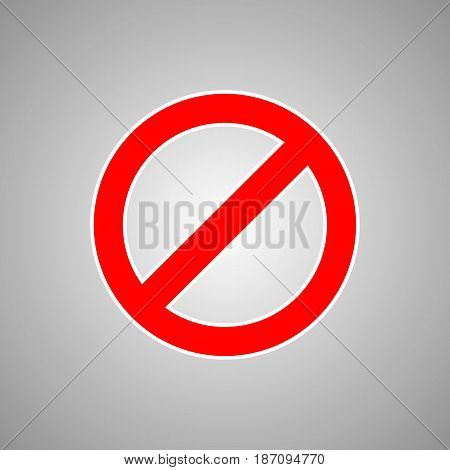 Danger stop sign on gradient grey background