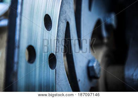 Disk brake close up