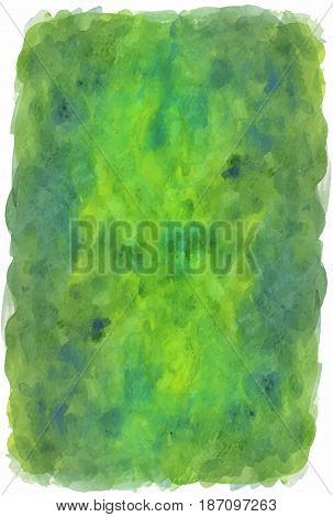 Green painted textured vector background with jagged edges