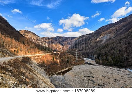 Only Automobile Road Connecting Okinsky District Of Buryatia With World