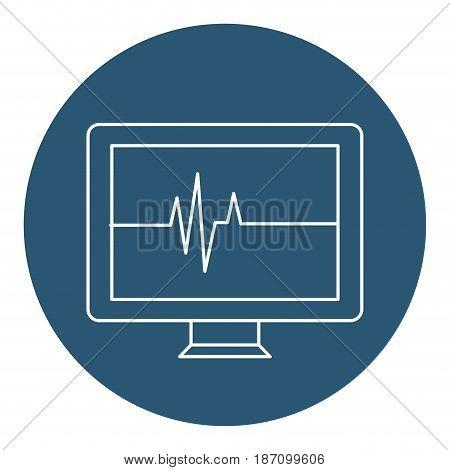 computer desktop with cardiology application vector illustration design