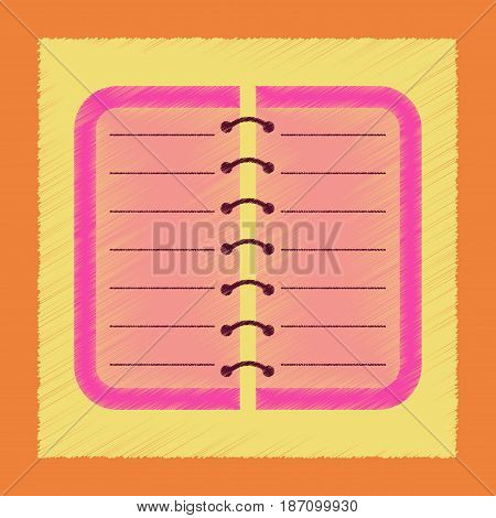 flat shading style icon of spiral notepad notebook