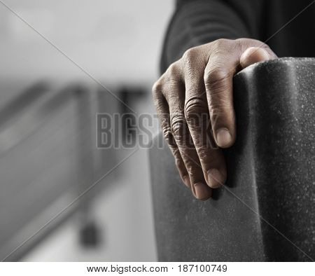 Close up of Black man's hand