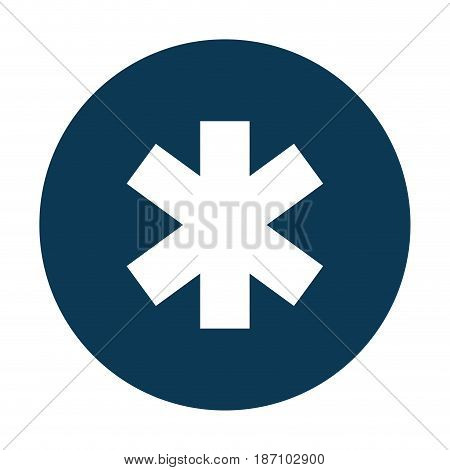 medical cross caduceus icon vector illustration design