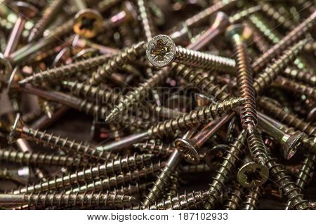 Background With Screw.