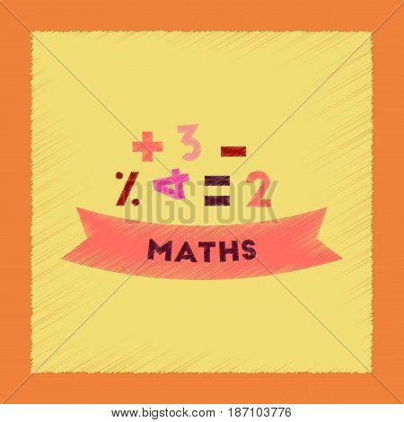 flat shading style icon of math lesson