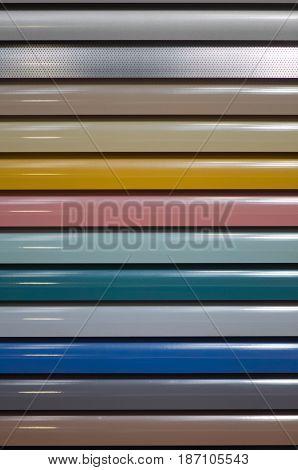 Aluminum Window Blinds Sampler, Color Image, Texture, Background,