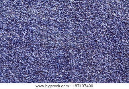 Blue Color Towel Pattern Close-up.