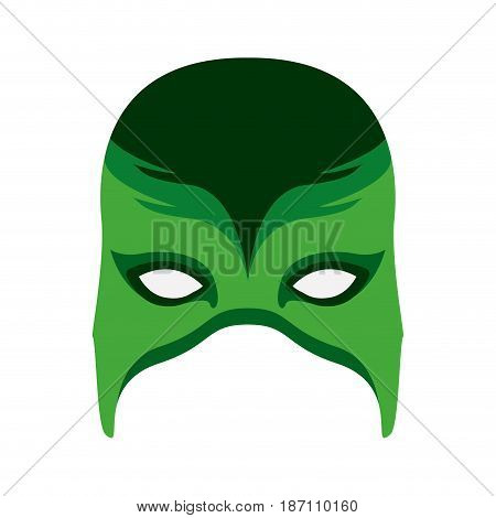 colorful silhouette of fantasy mask vector illustration