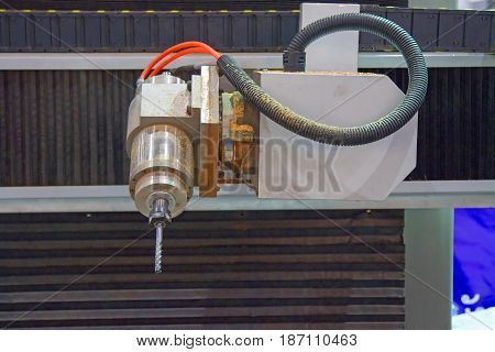Spindle of CNC milling for cutting wood