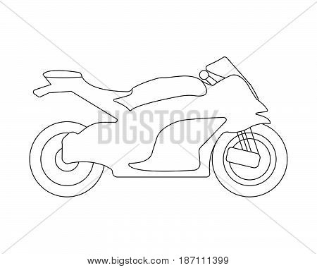Bike Flat Icon And Logo. Outline Vector Illustration