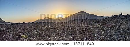 Volcanic Landscape In Timanfaya National Park