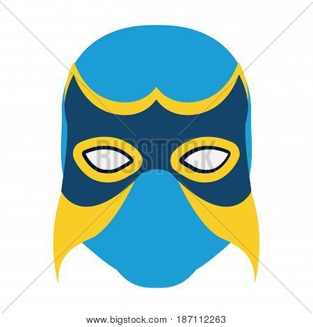 colorful silhouette with wrestler mask vector illustration