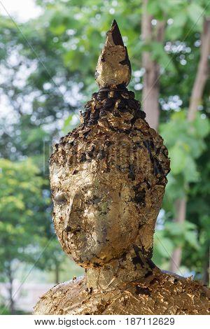 Buddha Status Ruined Old