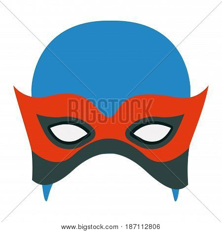 colorful silhouette with contender mask vector illustration