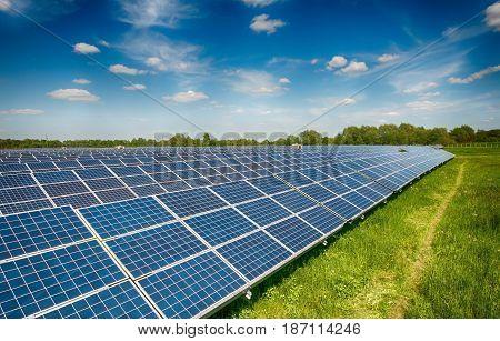 image of a big solar plant. A close up