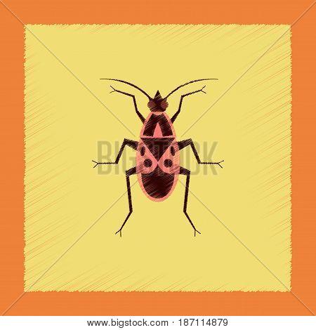 flat shading style illustration of soldier bug