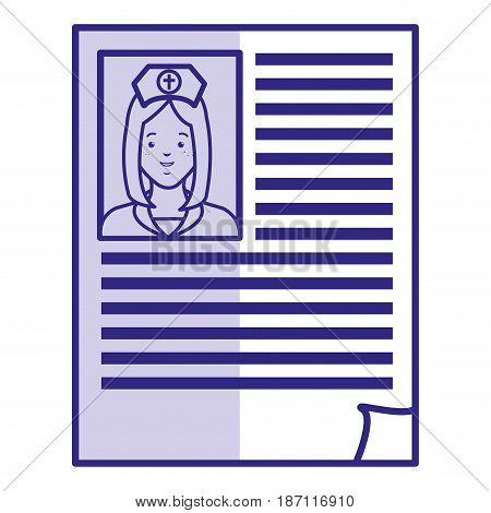 doctor curriculum paper icon vector illustration design