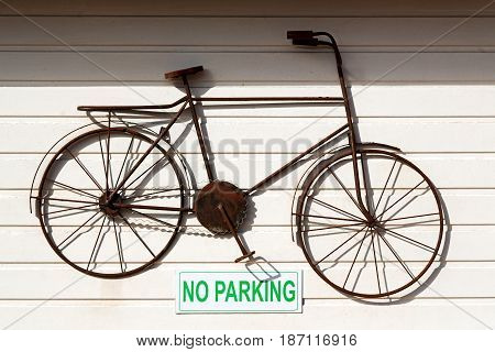 A No Parkin Signal In The Garage Door