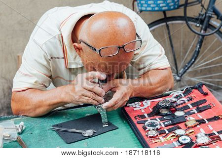 Watch Repair Service At The Flea Market
