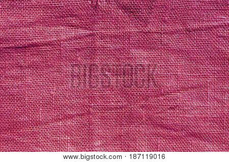 Pink Hessian Sack Cloth Texture.
