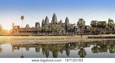 Angkor Wat Temple Siem reap Cambodia .
