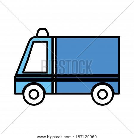 ambulance vehicle isolated icon vector illustration design