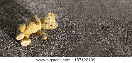 Children lost their toy on the ground