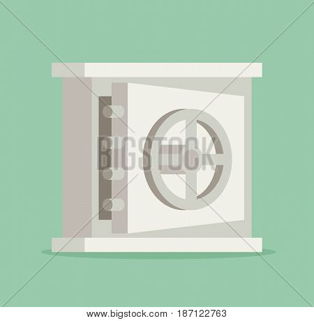 Vector EPS10 flat concept safe icon isolated