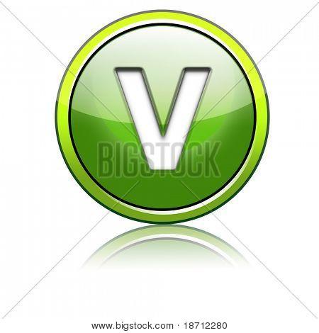 glänzende 3d Symbol-Brief