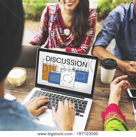 Discussion Communication Conversation Talk Concept