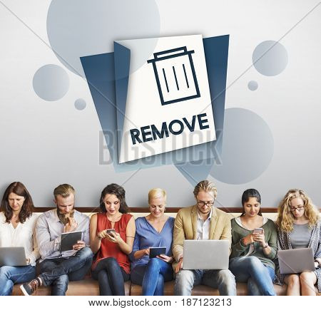 Delete Remove Trash Can Application Graphic
