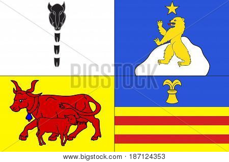 Flag of Argeles-Gazost is a commune in the Hautes-Pyrenees department in southwestern France.