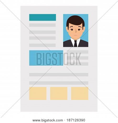 curriculum vitae isolated icon vector illustration design