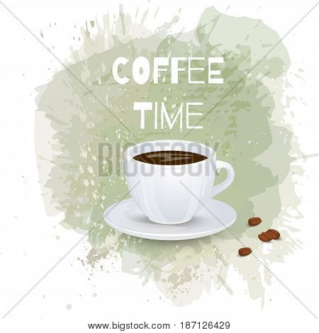 Coffee background or banner flayer web print template. Good for menu cafe advert