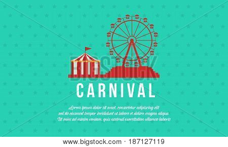 Background carnival funfair and circus vector illustration