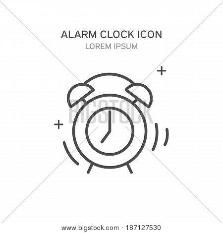Alarm Clock Line Style Icon. Vector Illustration