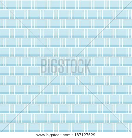 Seamless vector abstract geometric pattern - blue weave