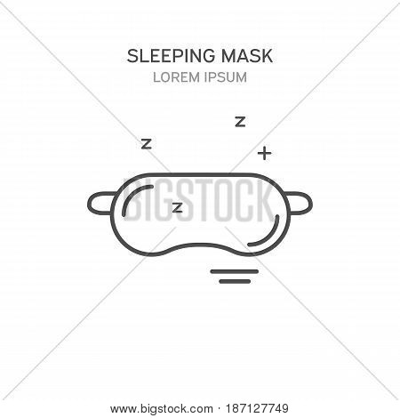 Sleeping Mask Line Style Icon. Vector Illustration