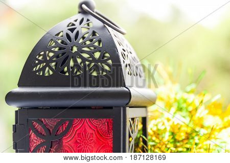 Closeup of Arabic Lantern . Ramadan, Eid Concept background