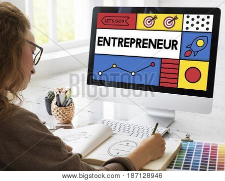 Entrepreneur Develop Enterprise Organizer Word