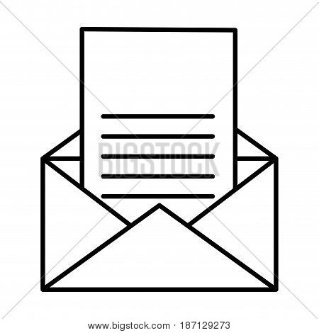 envelope mail isolated icon vector illustration design