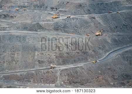 View to the opencast surface mining facility