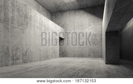 Abstract Empty Gray Concrete Room Interior