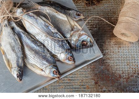 Taranka, Sun Dried Salty River Fish, Classic Beer Snack in Post Soviet Countries