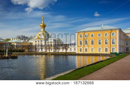 St.Petersburg, Russia - May 3, 2014: Heraldic corps  in the Grand Peterhof Palace